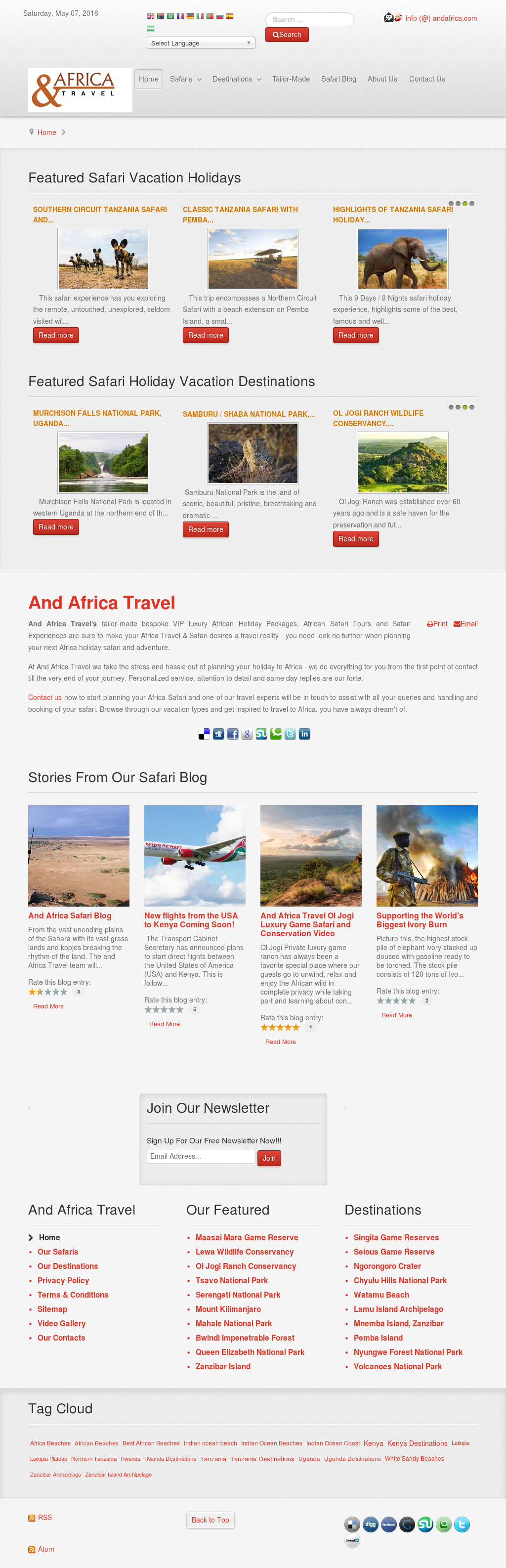And Africa Travel Competitors, Revenue and Employees - Owler Company
