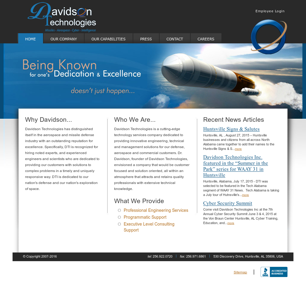 Davidson Technologies Competitors, Revenue and Employees