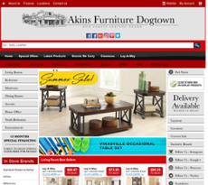 Akins Furniture Website History
