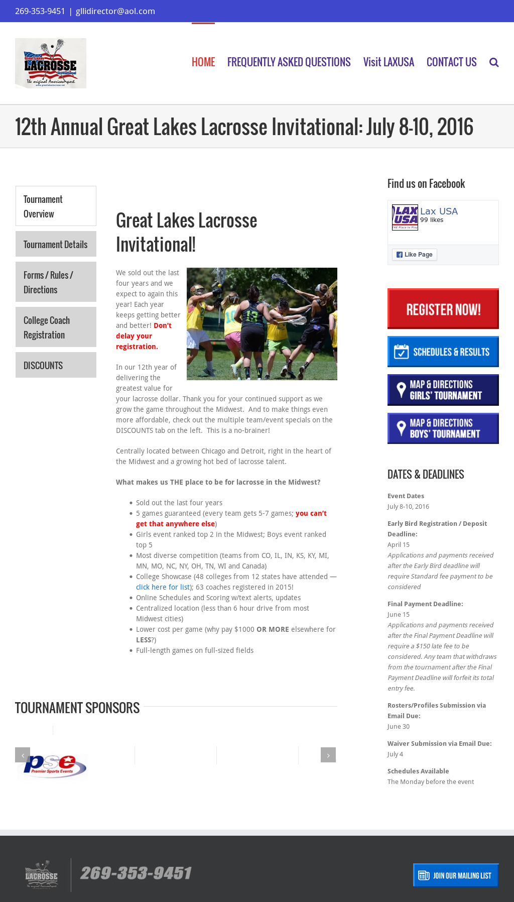 Great Lakes Lacrosse Invitational - Glli Competitors, Revenue and Employees - Owler Company Profile