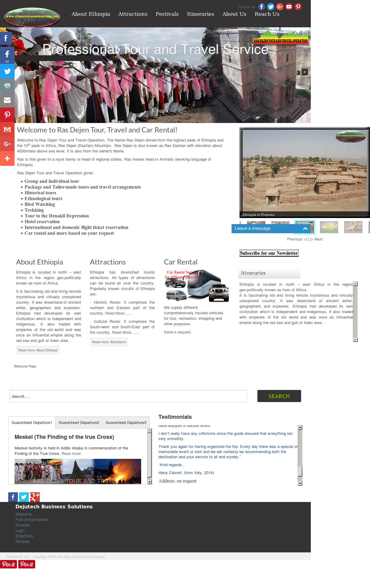 Ras Dejen Tour And Travel Ethiopia-rdt Competitors, Revenue