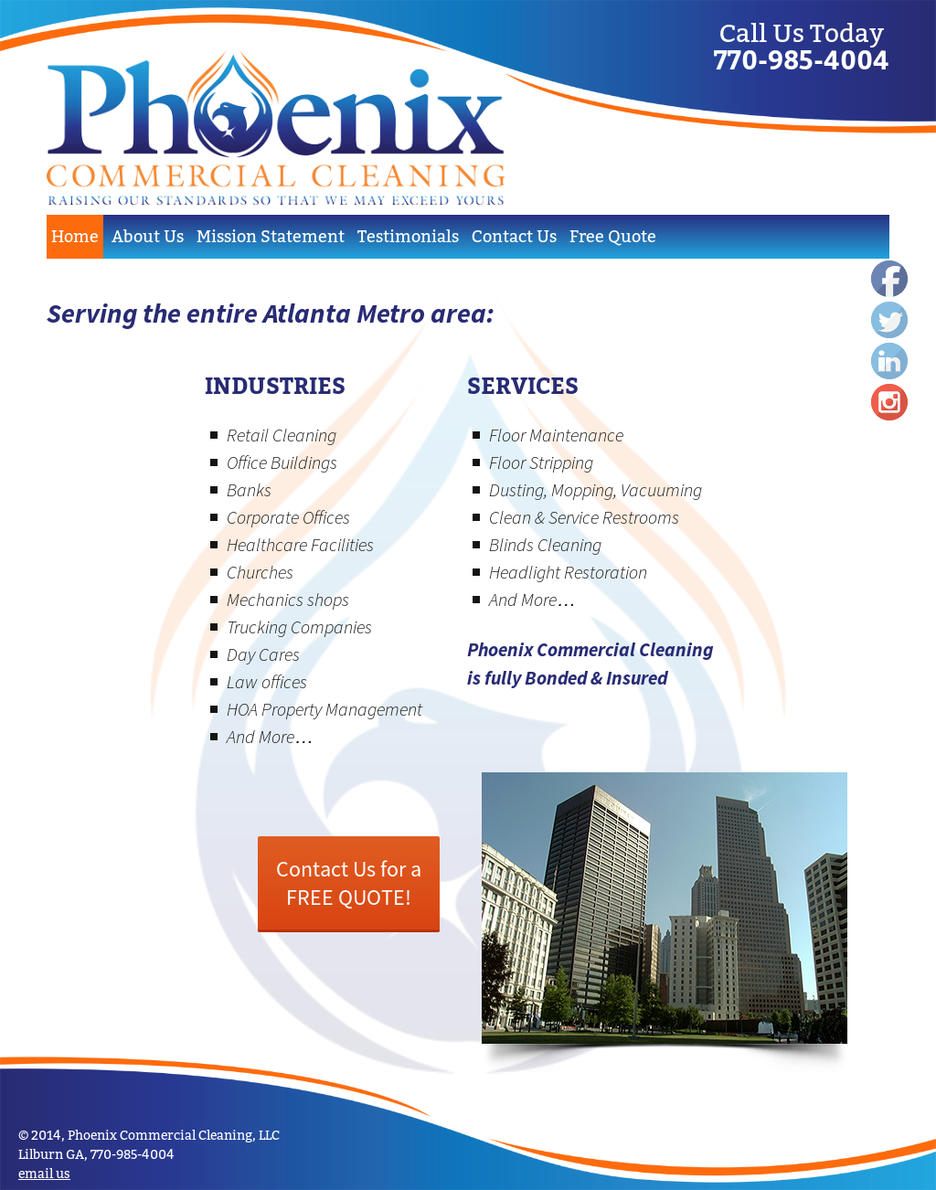 Phoenix Commercial Cleaning Competitors, Revenue and