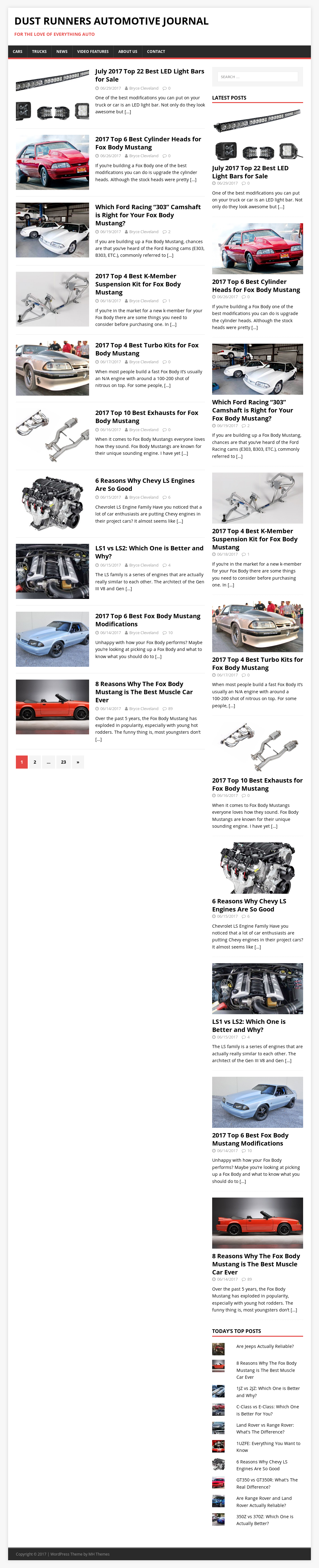 Dust Runners Automotive Journal Competitors, Revenue and