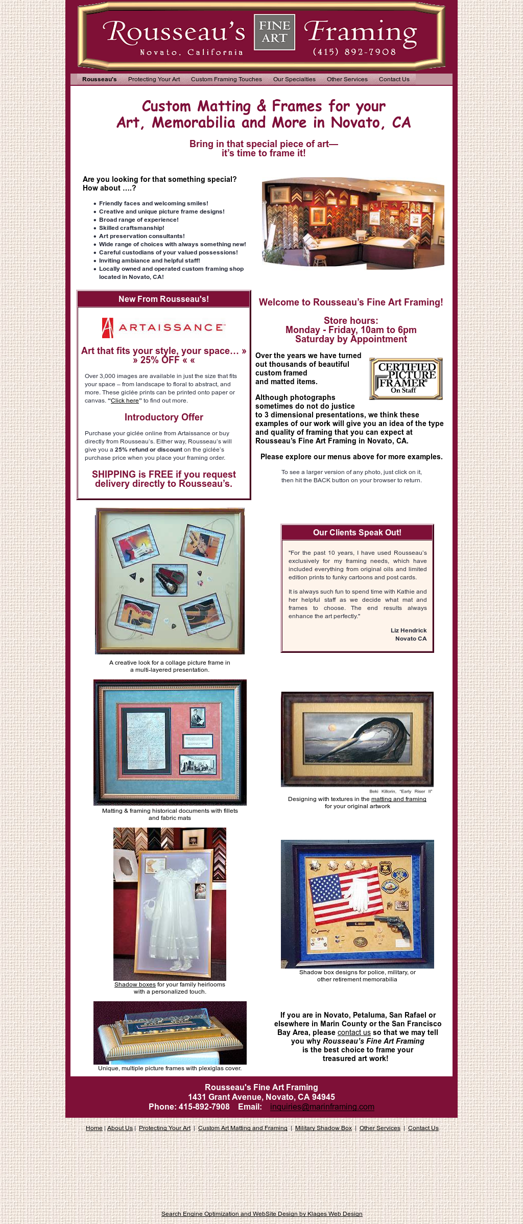 Rousseaus Fine Art Framing Competitors, Revenue and Employees ...