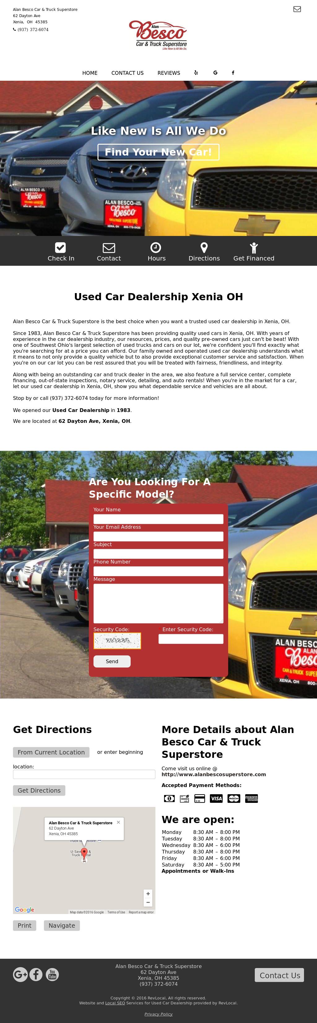 Alan Besco Car Truck Super Website History
