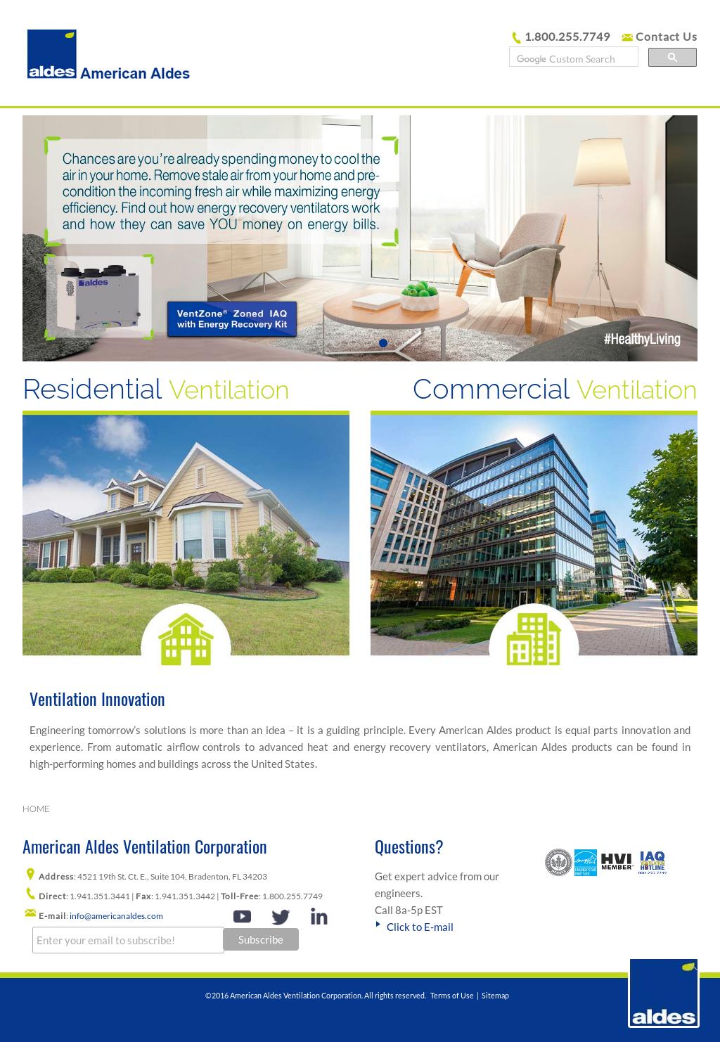 American ALDES Ventilation Competitors, Revenue and