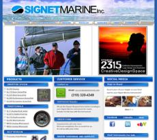 Signet Marine website history