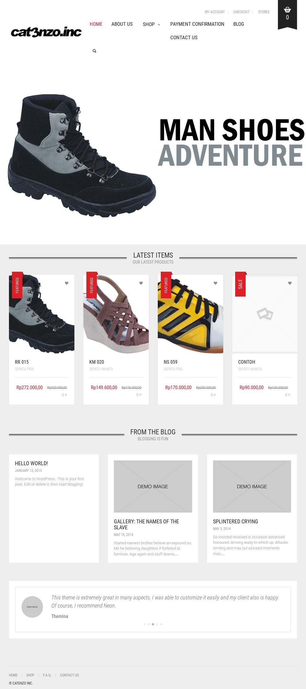 contoh advertisement shoes