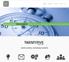Twenty Five website history