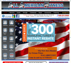 All American Fitness website history