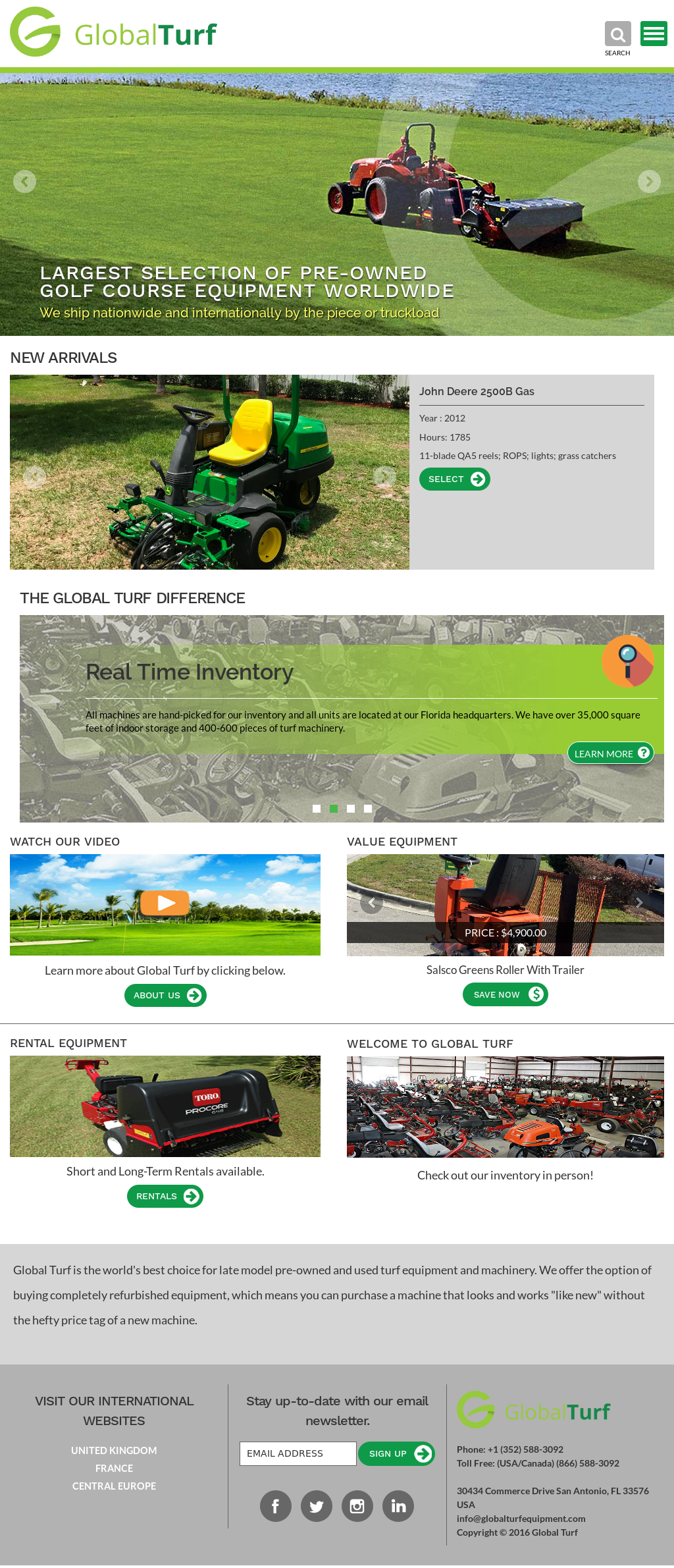 Global Turf Equipment Competitors, Revenue and Employees