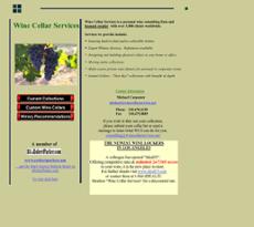 Wine Cellar Services website history
