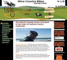 Wine Country Bikes website history