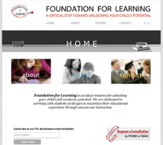 Foundation for Learning website history