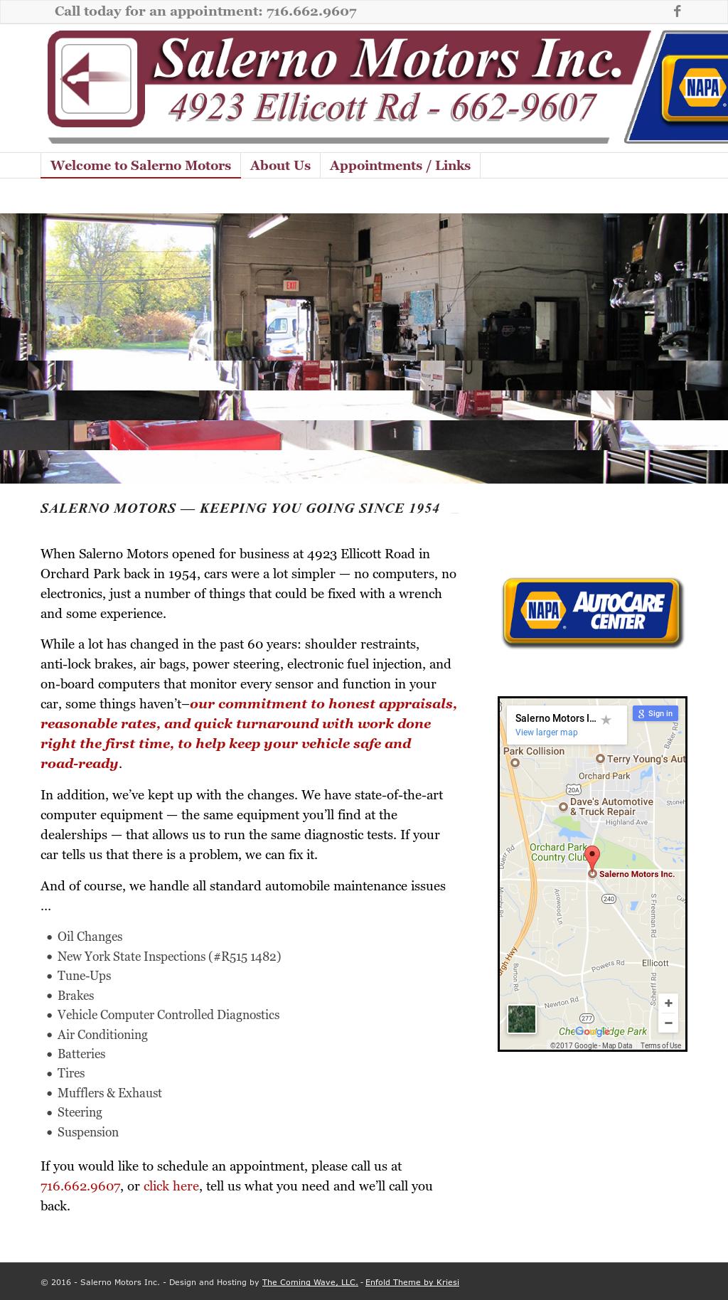 Salerno Motors website history