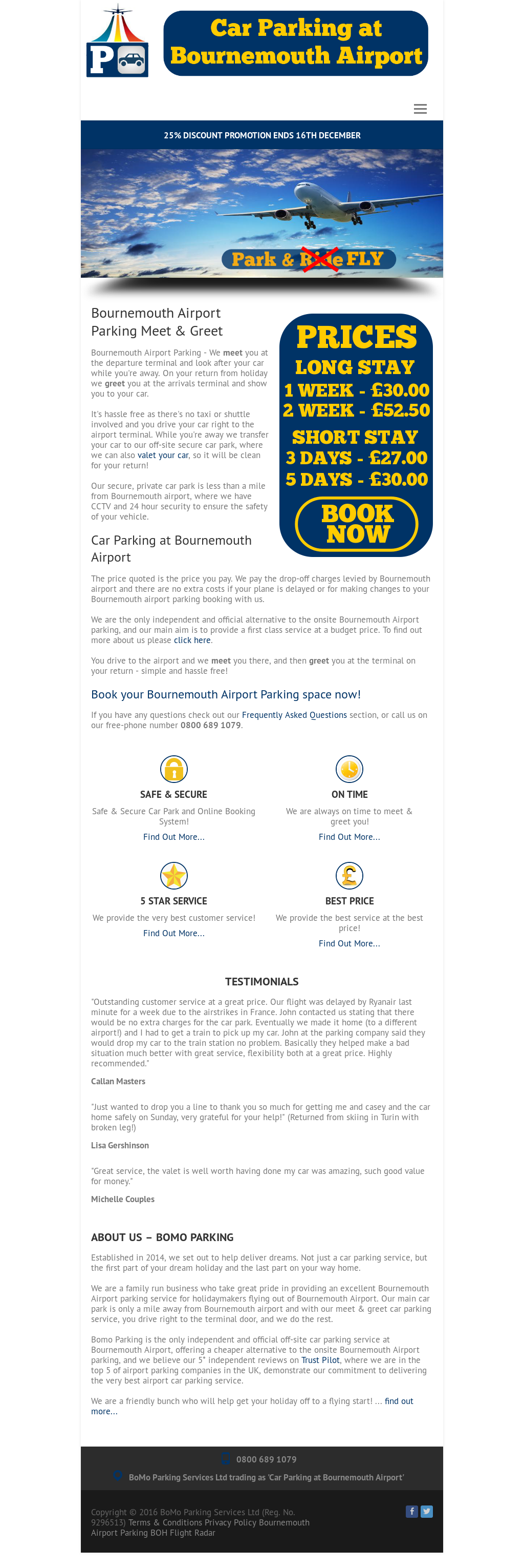 Car Parking At Bournemouth Airport Competitors, Revenue and
