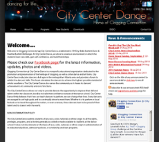 City Center Dance website history