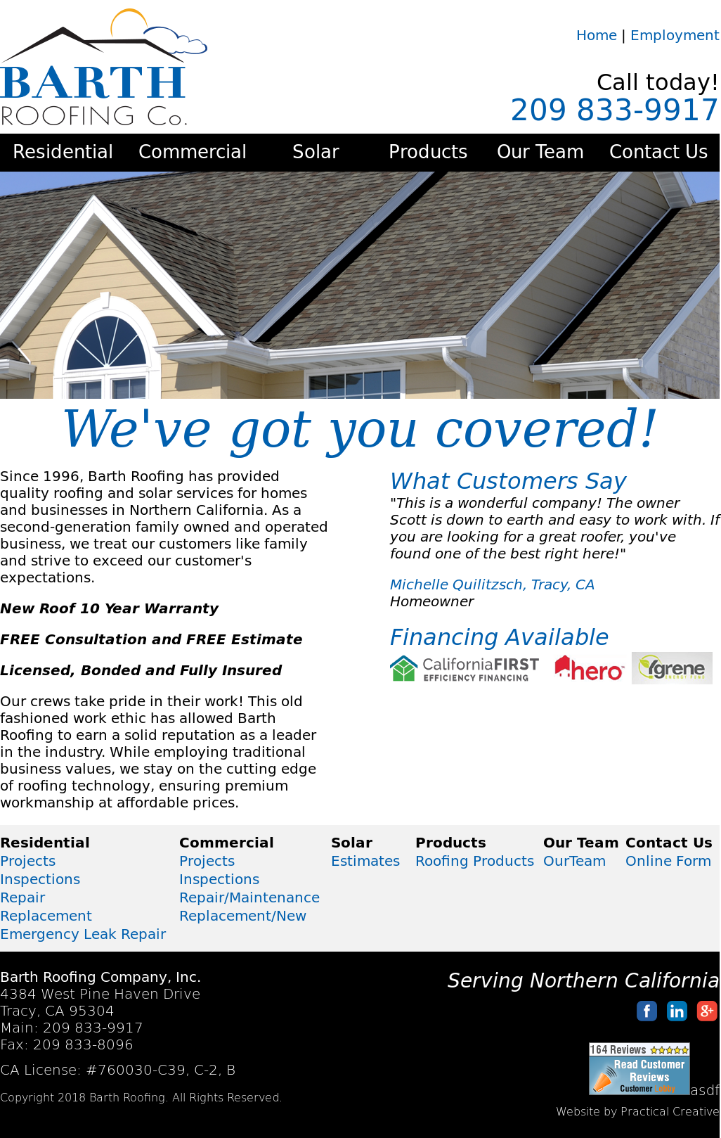 Barth Roofing Website History