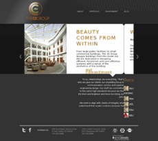 The CE Group website history