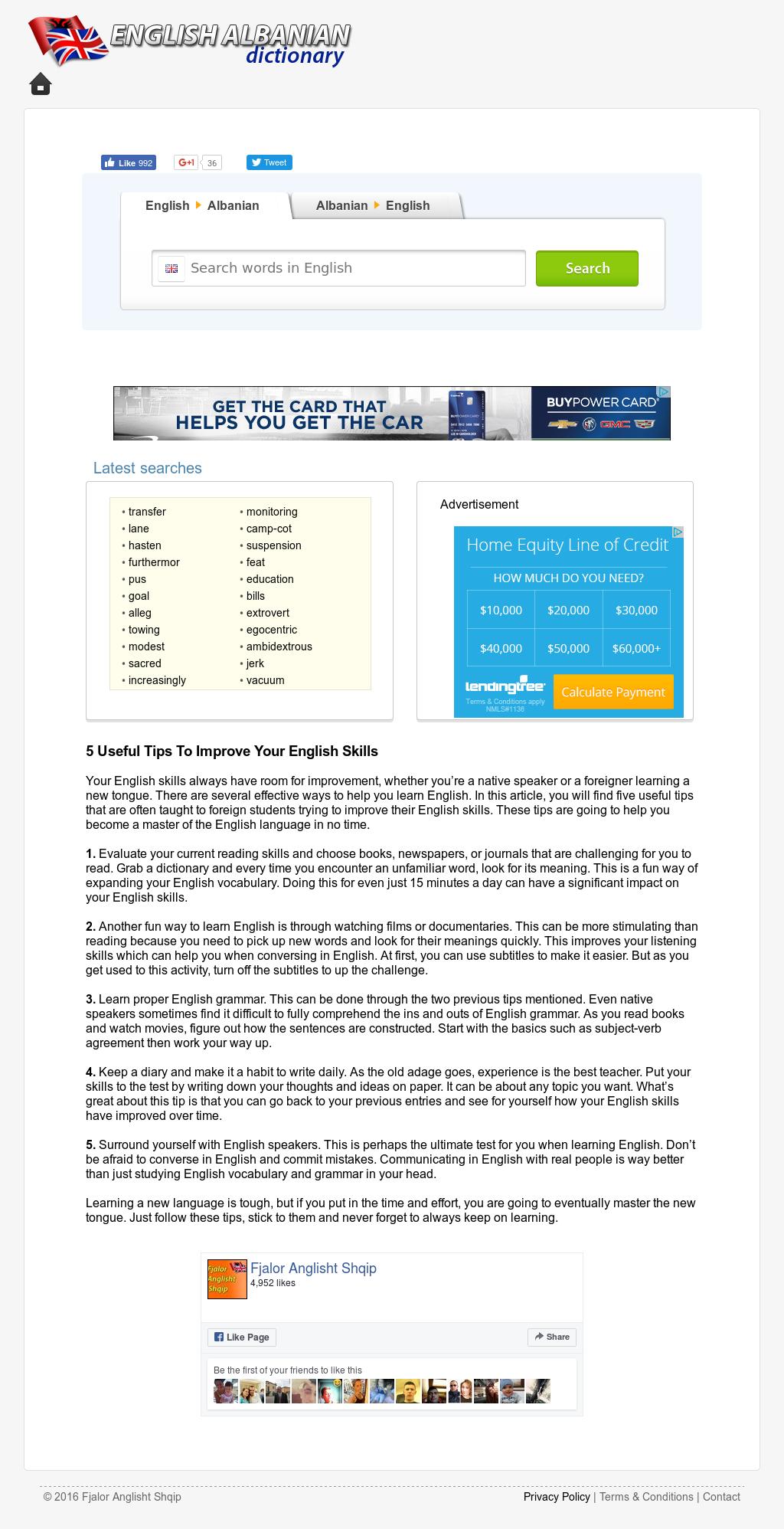 Fjalor Anglisht Shqip Competitors, Revenue and Employees