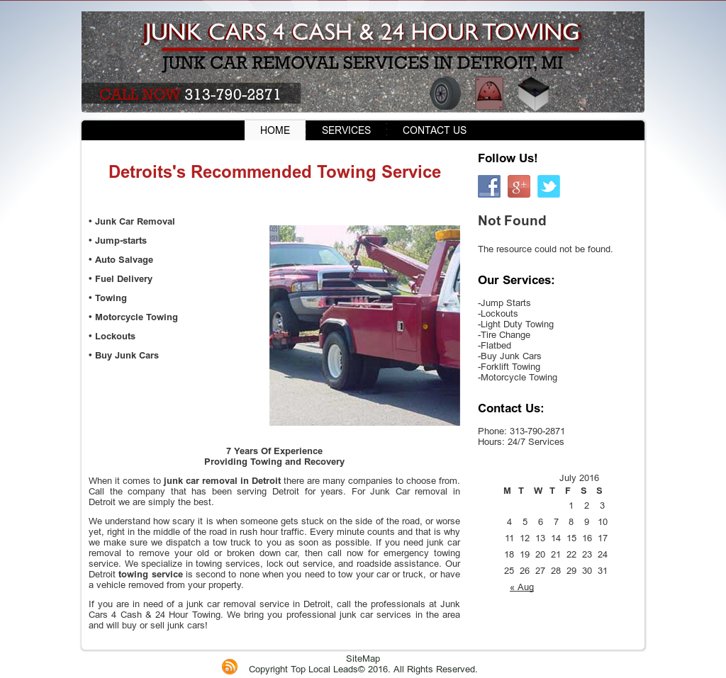Junk Cars 4 Cash And 24 Hour Towing Competitors, Revenue and ...