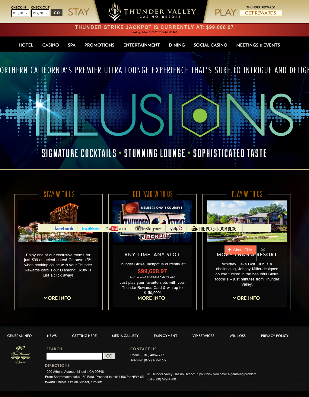 Awe Inspiring Thunder Valley Casino Resort Competitors Revenue And Home Interior And Landscaping Ologienasavecom
