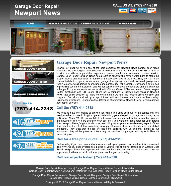 Garage Door Repair Newport News Competitors Revenue And Employees
