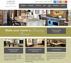 Caruso Kitchens Website History