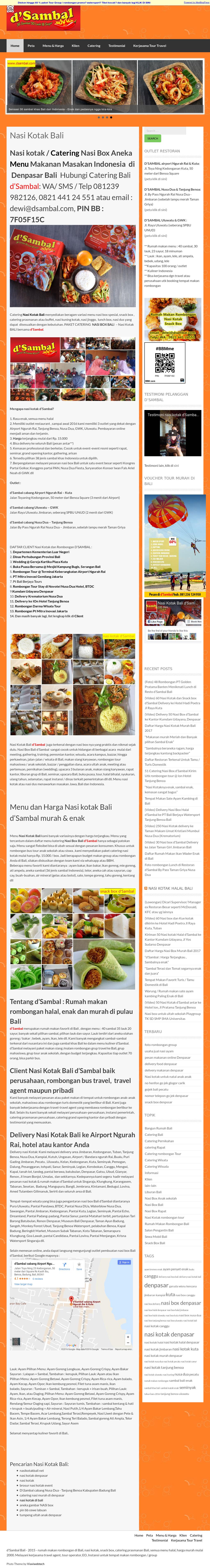 Nasi Kotak Bali D Sambal Competitors Revenue And Employees