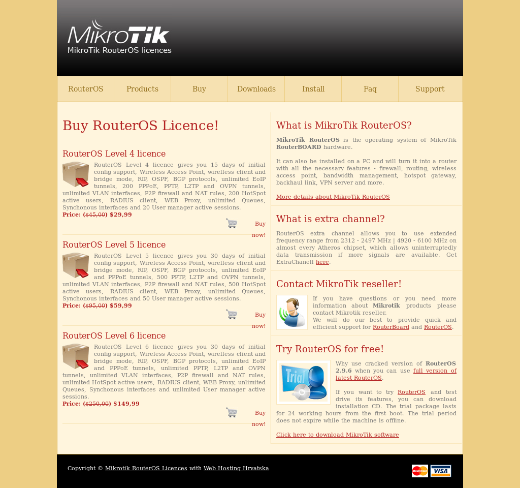 Mikrotik Packages