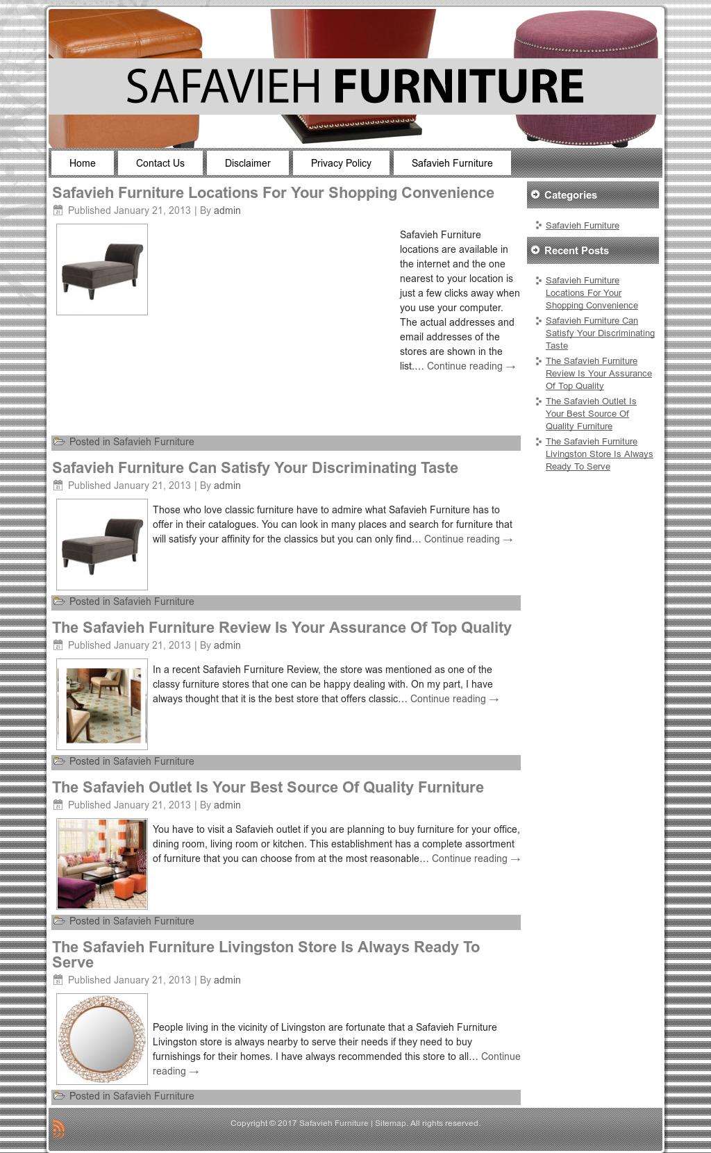 Safavieh Furniture Website History