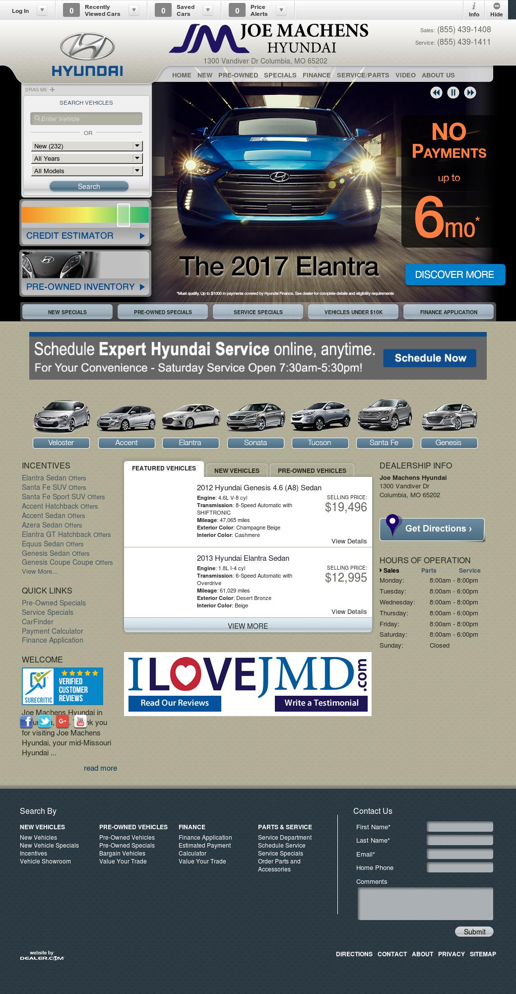 Joe Machens Hyundai Competitors Revenue And Employees Owler 1 8l Engine Company Profile