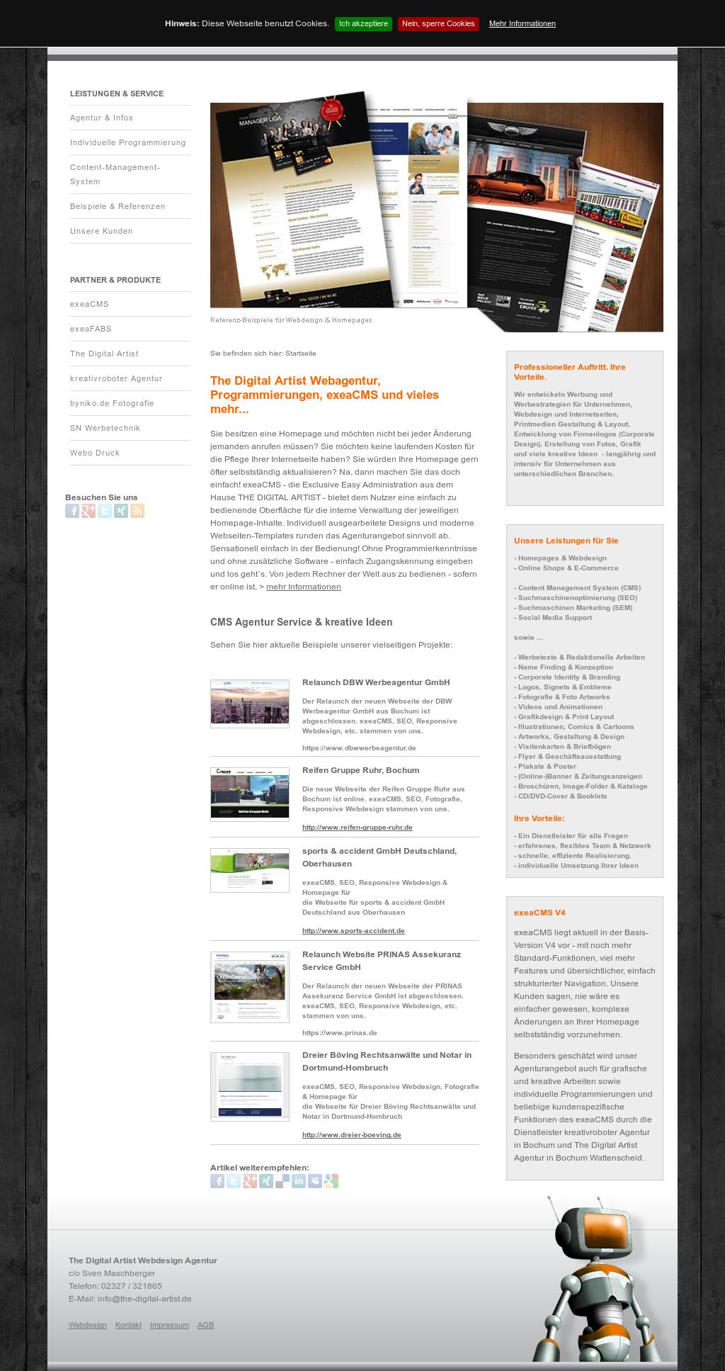 The Digital Artist Web Design Agentur Sven