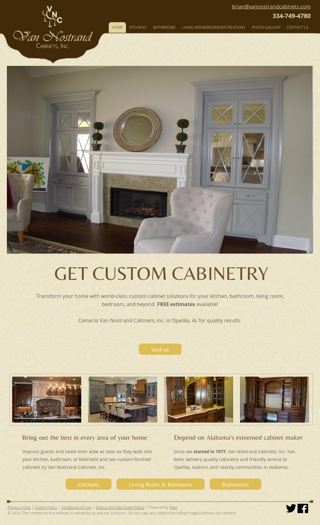 Van Nostrand Cabinets Website History