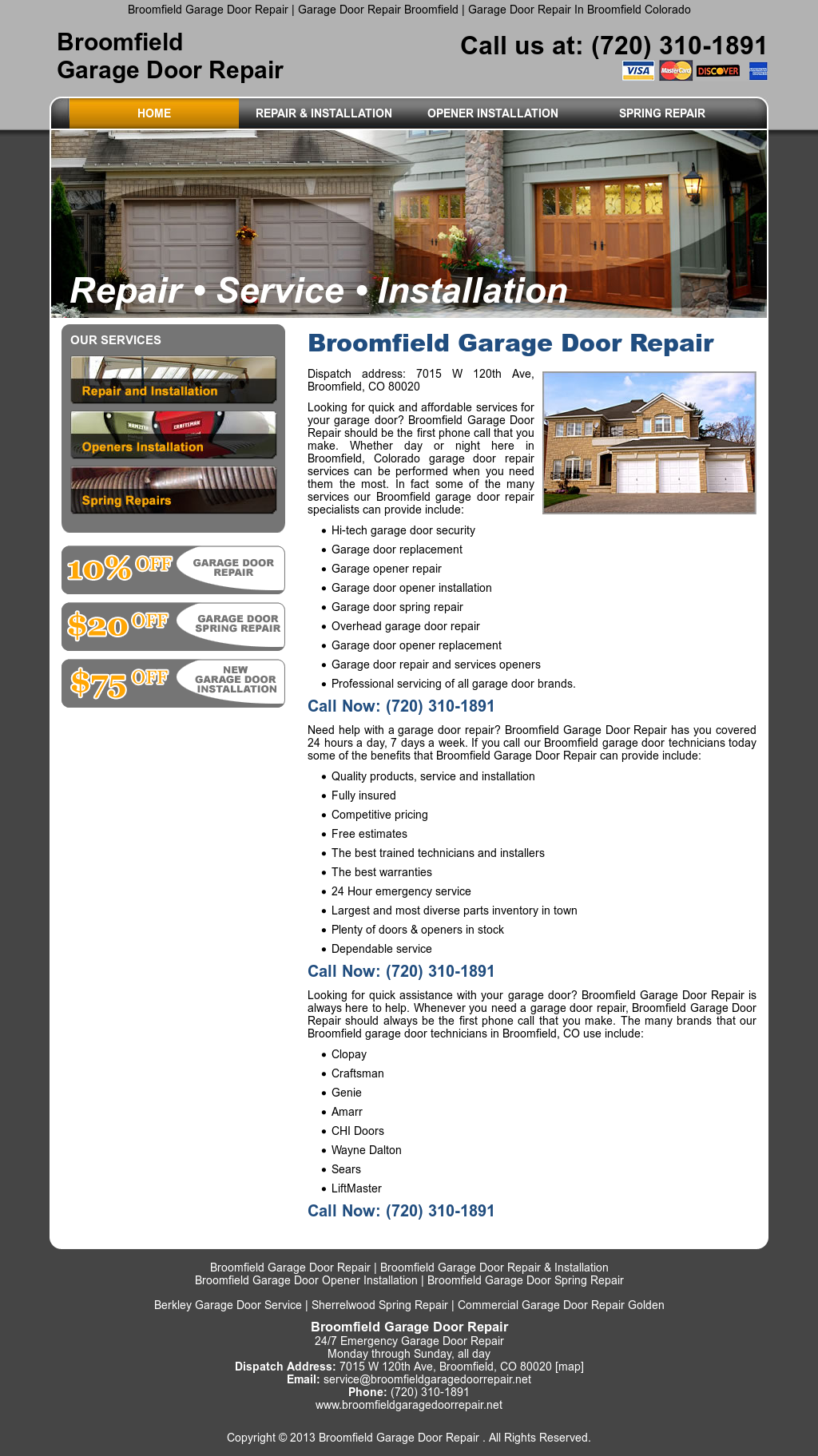 Broomfieldgaragedoorrepair Website History