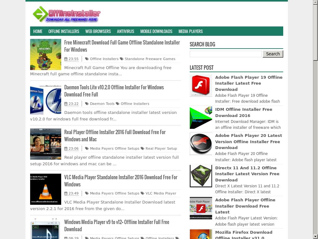 flash player 22 offline installer