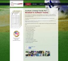 lineupCARDS website history
