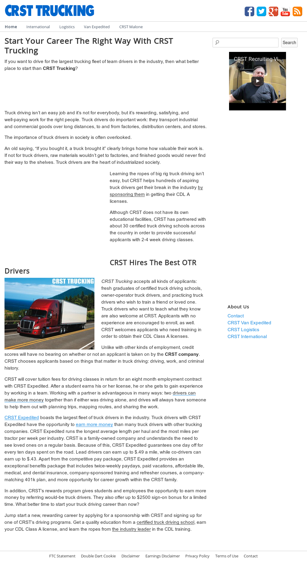Crst Trucking Competitors, Revenue and Employees - Owler