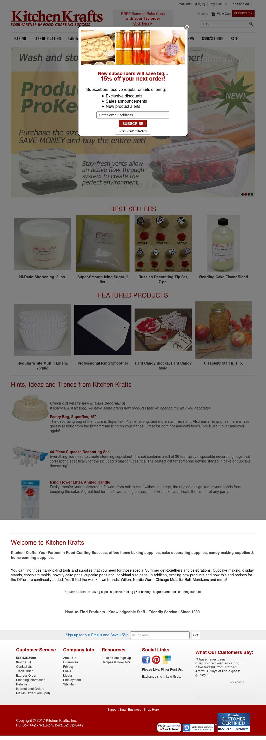 kitchen krafts website history - Kitchen Krafts