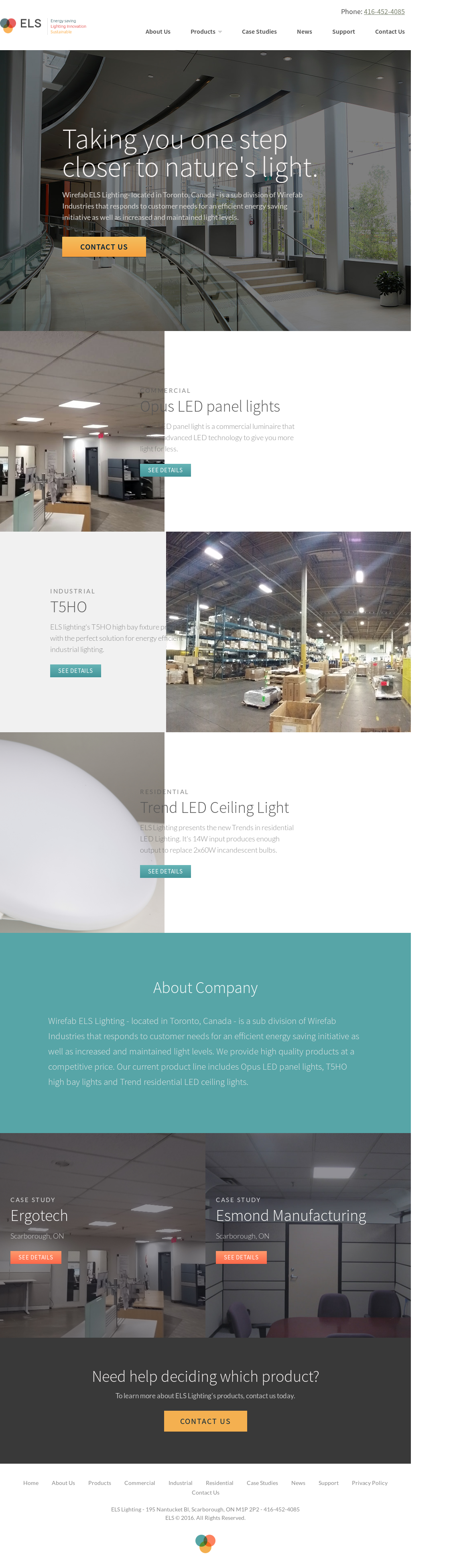 Els Lighting Compeors Revenue And