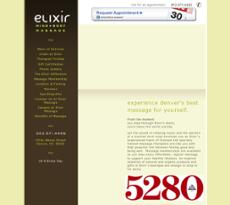 Elixir Mind Body Massage website history