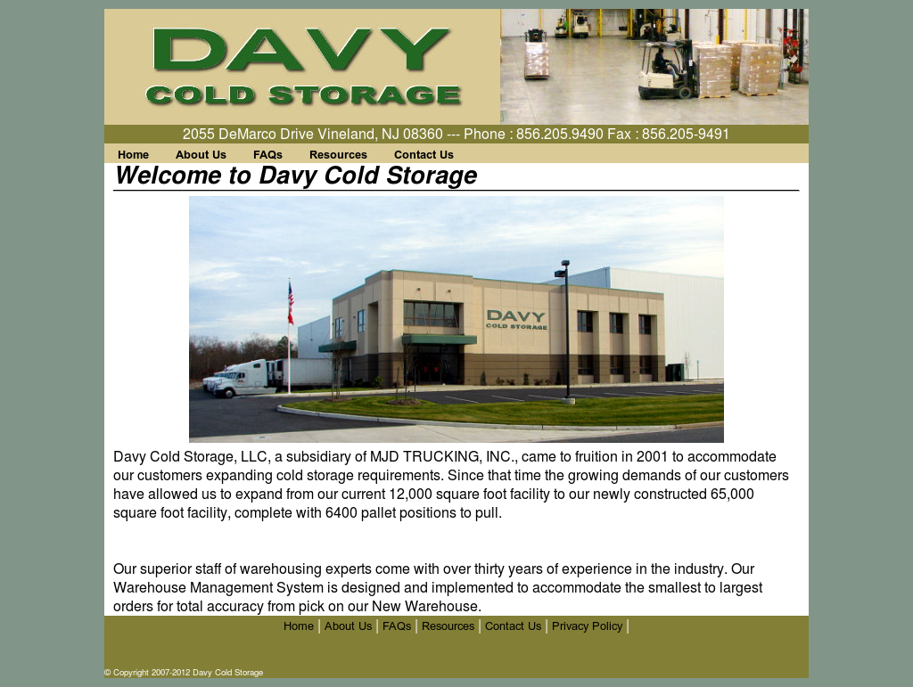 Davy Cold Storage website history  sc 1 st  Owler & Davy Cold Storage Competitors Revenue and Employees - Owler Company ...