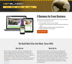 NetBlazon website history