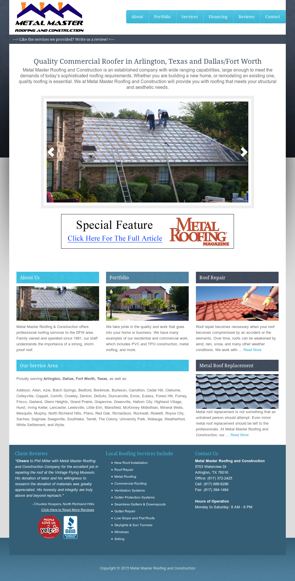Metal Master Roofing And Construction Competitors, Revenue and