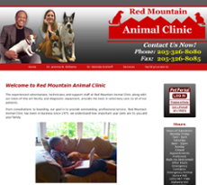 Red Mountain Animal Clinic website history