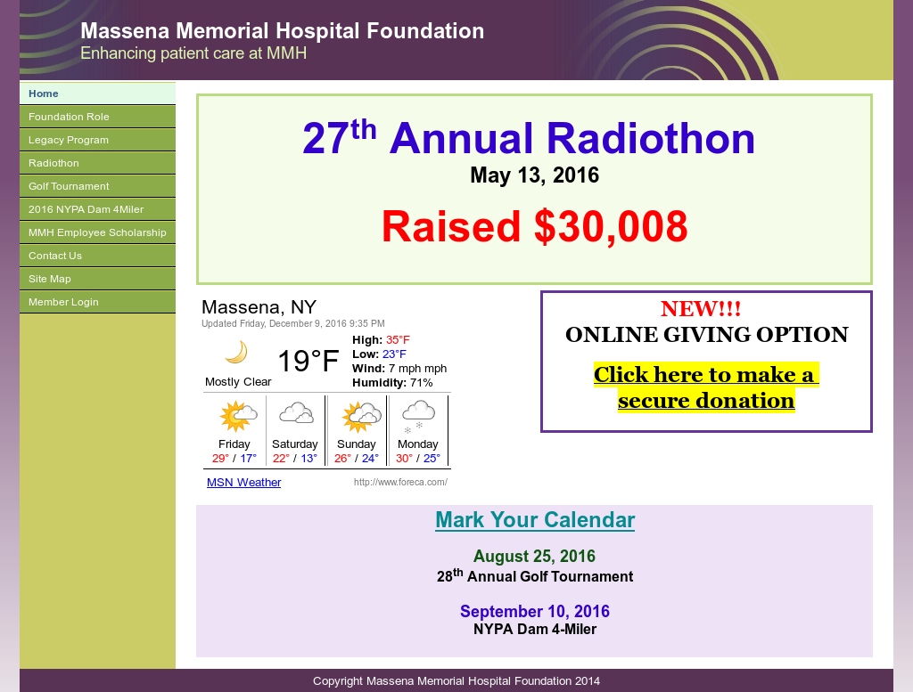 Massena Memorial Hospital Foundation Competitors, Revenue