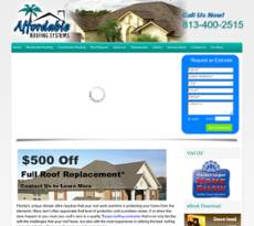 Affordable Roofing Systems Website History