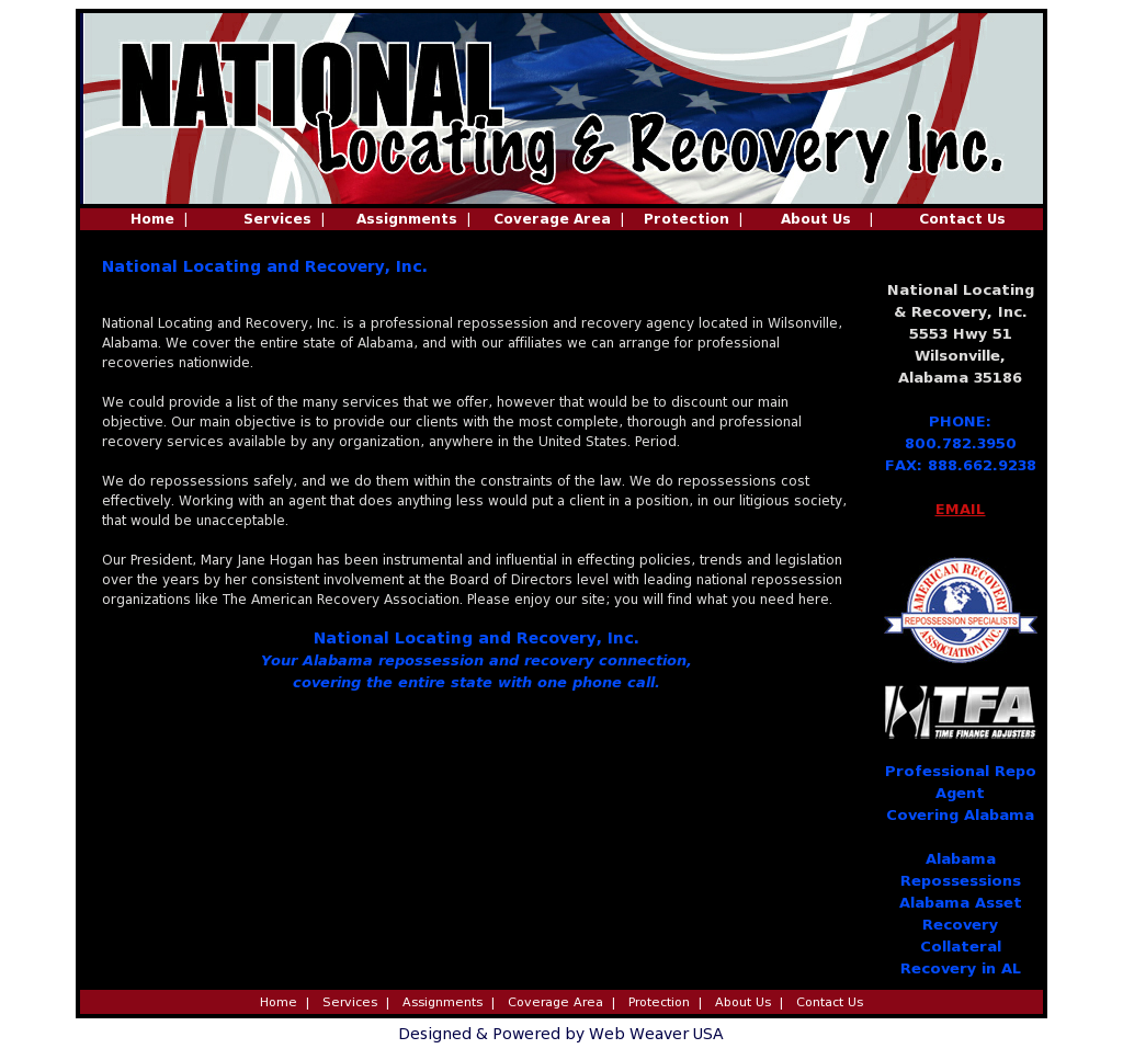 national locating recovery competitors revenue and employees