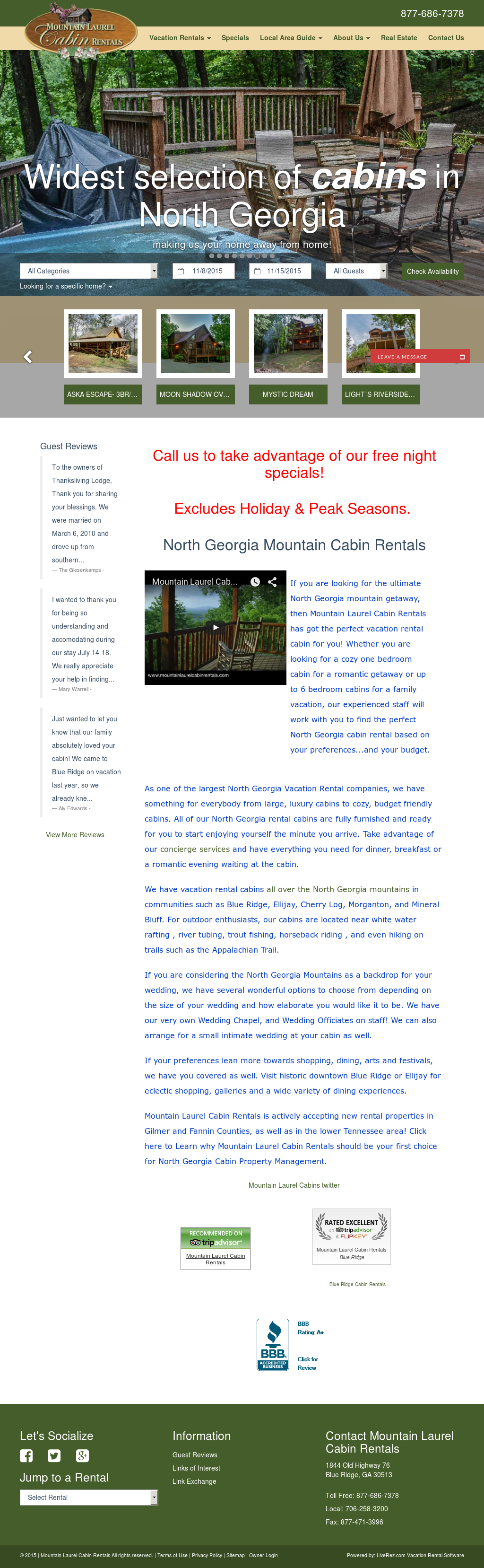 Mountain Laurel Cabin Rentals Competitors, Revenue and