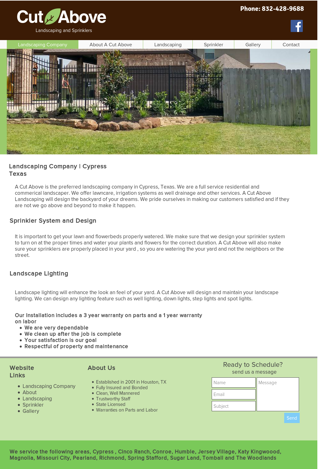Cut Above Landscaping And Irrigation website history - Cut Above Landscaping And Irrigation Competitors, Revenue And